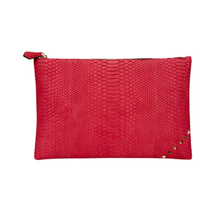 MATT ZIP CLUTCH_RED