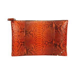 ZIP CLUTCH_ORANGE