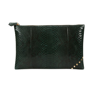 [불르아]ZIP CLUTCH_DARK GREEN
